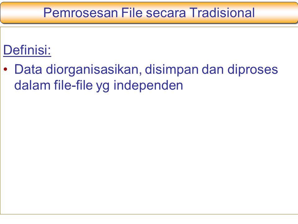 Pemrosesan File secara Tradisional