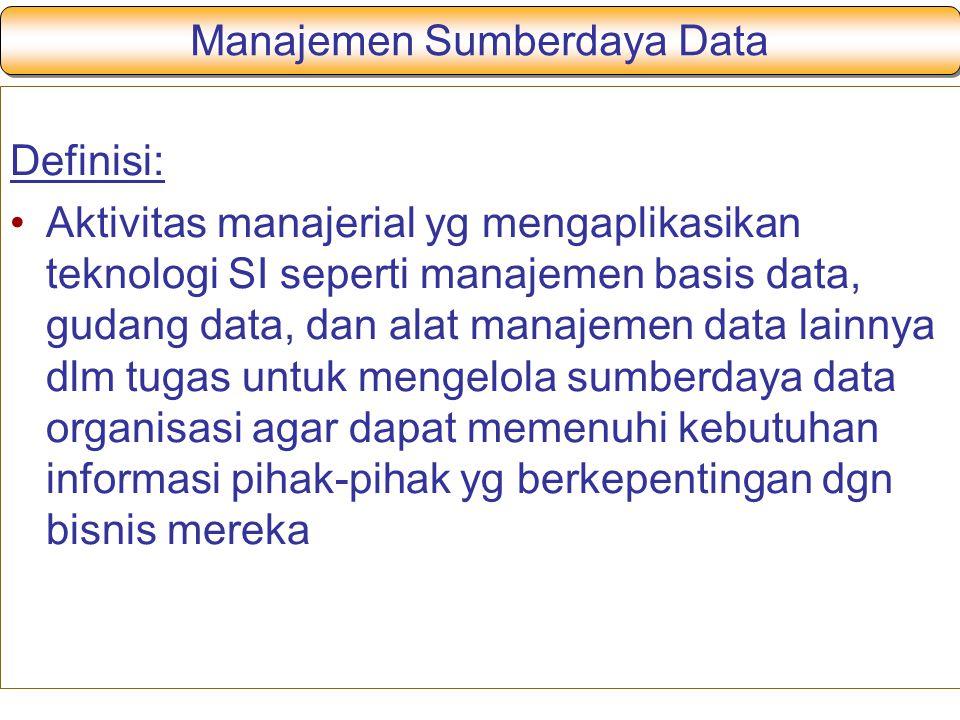 Manajemen Sumberdaya Data