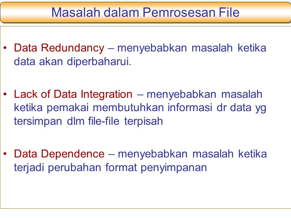 Masalah dalam Pemrosesan File