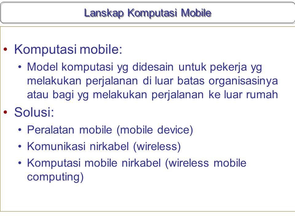 Lanskap Komputasi Mobile