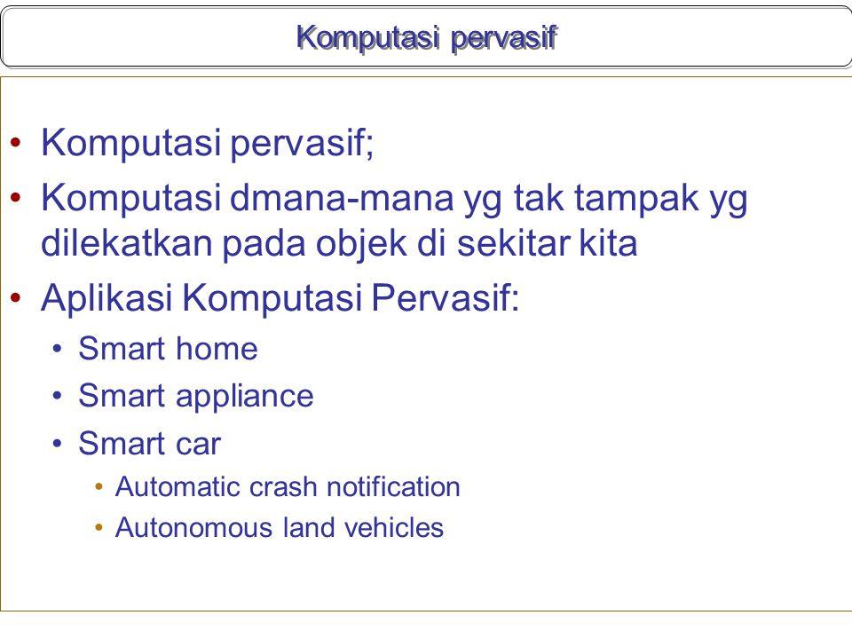 Aplikasi Komputasi Pervasif: