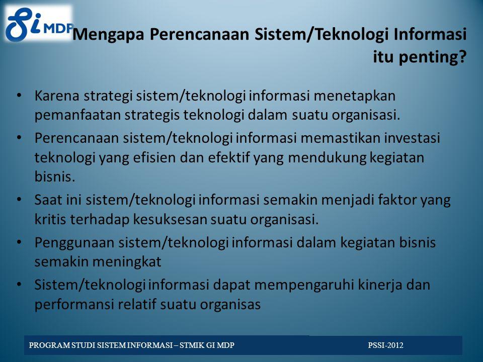 Mengapa Perencanaan Sistem/Teknologi Informasi itu penting