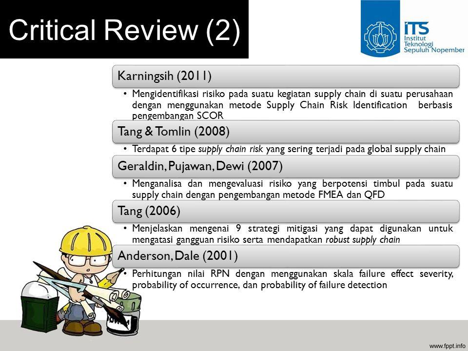 Critical Review (2) Karningsih (2011) Tang & Tomlin (2008)