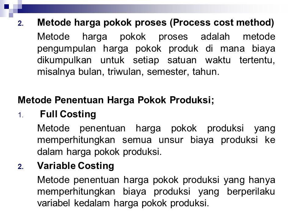 Metode harga pokok proses (Process cost method)