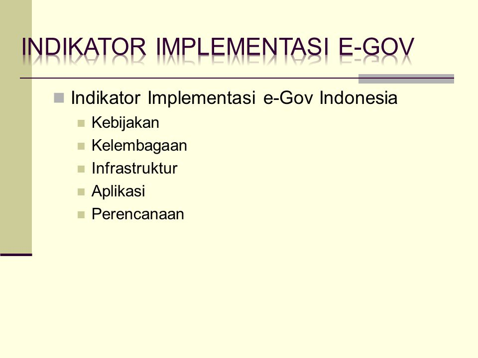 Indikator implementasi e-gov