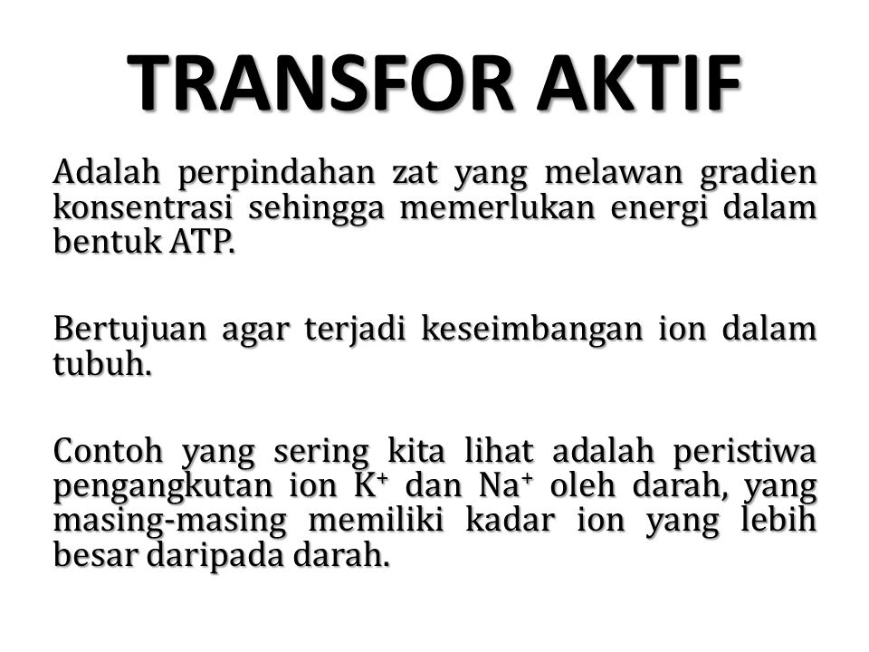 TRANSFOR AKTIF