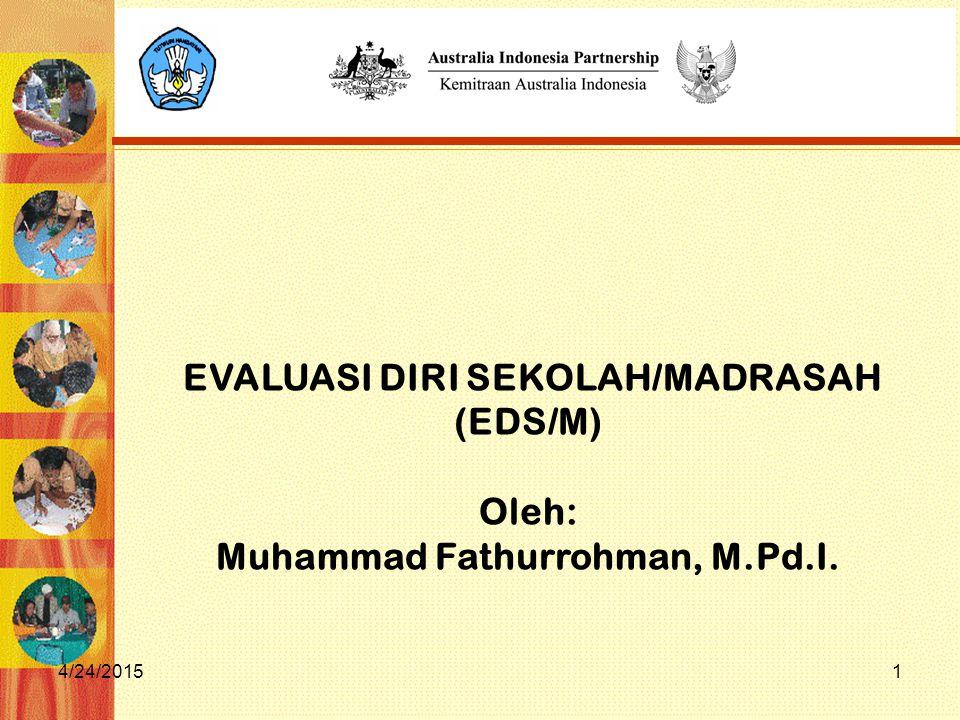 EVALUASI DIRI SEKOLAH/MADRASAH Muhammad Fathurrohman, M.Pd.I.