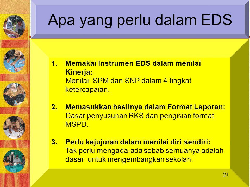 Apa yang perlu dalam EDS