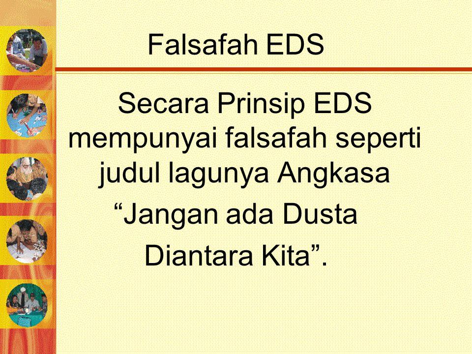 Secara Prinsip EDS mempunyai falsafah seperti judul lagunya Angkasa