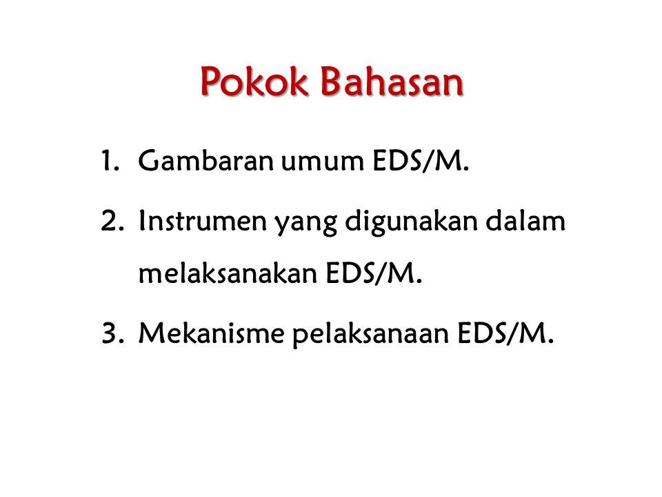 Pokok Bahasan Gambaran umum EDS/M.