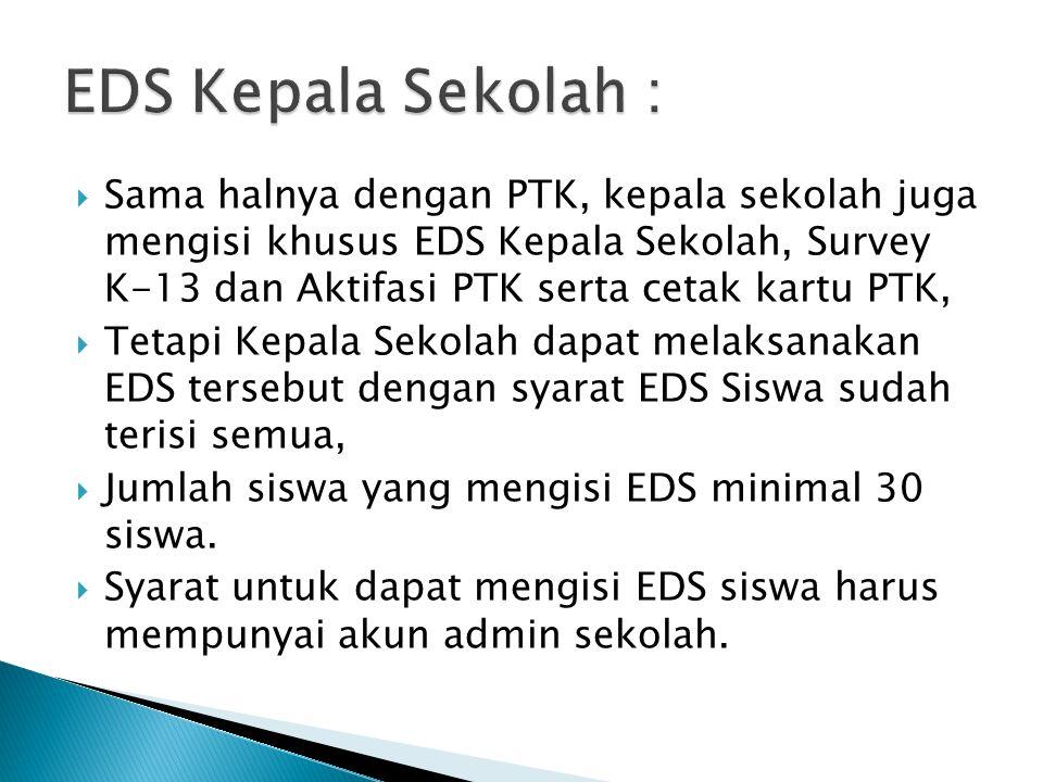 EDS Kepala Sekolah :
