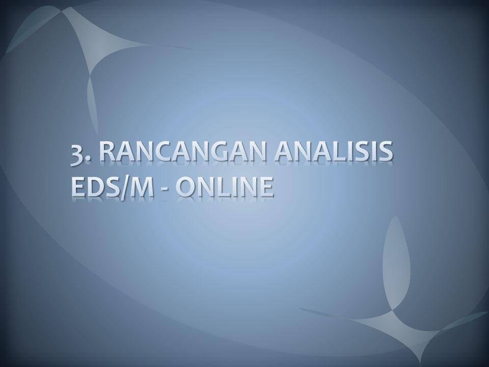 3. RANCANGAN ANALISIS EDS/M - ONLINE