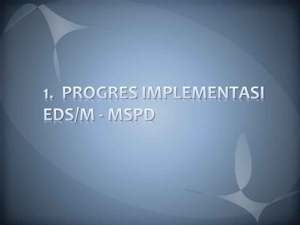 1. PROGRES IMPLEMENTASI EDS/M - MSPD