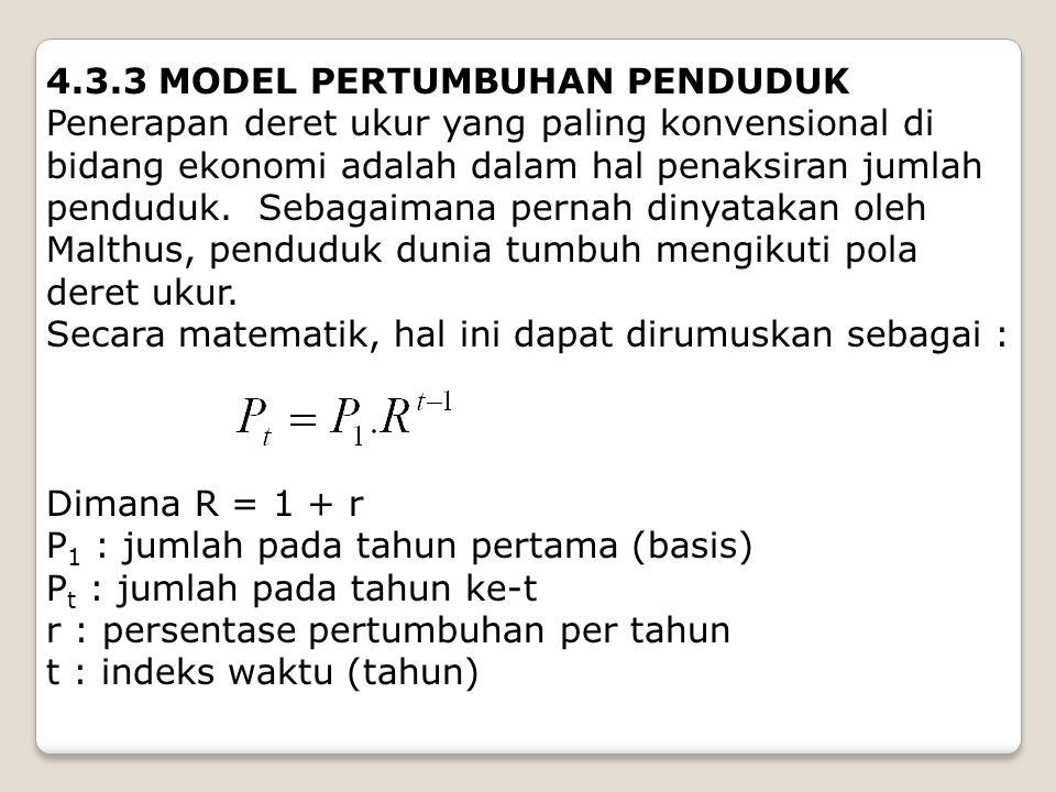 4.3.3 MODEL PERTUMBUHAN PENDUDUK