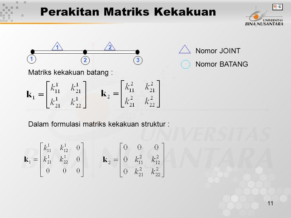 Perakitan Matriks Kekakuan