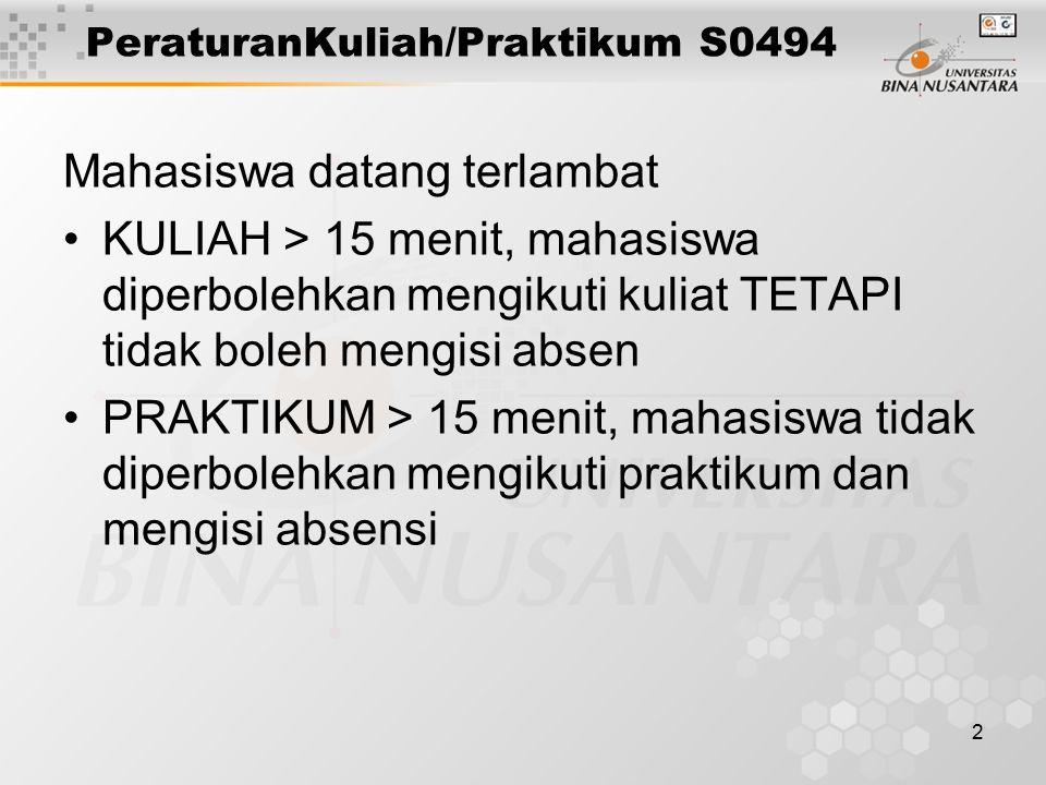 PeraturanKuliah/Praktikum S0494