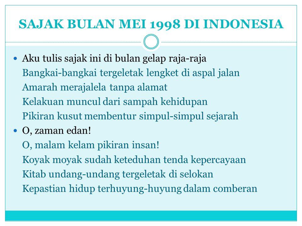 SAJAK BULAN MEI 1998 DI INDONESIA