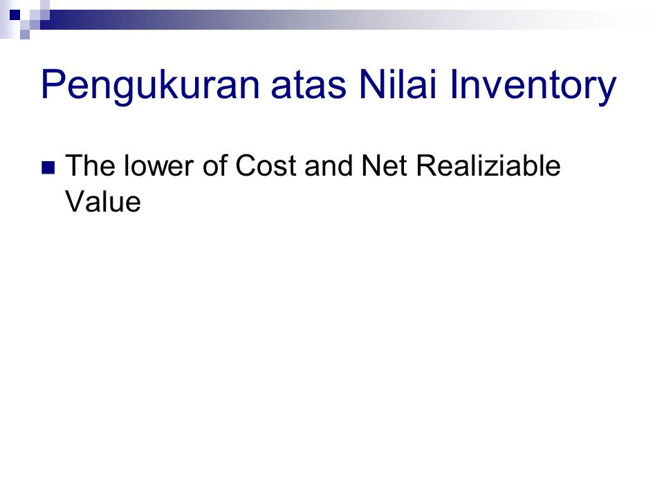 Pengukuran atas Nilai Inventory