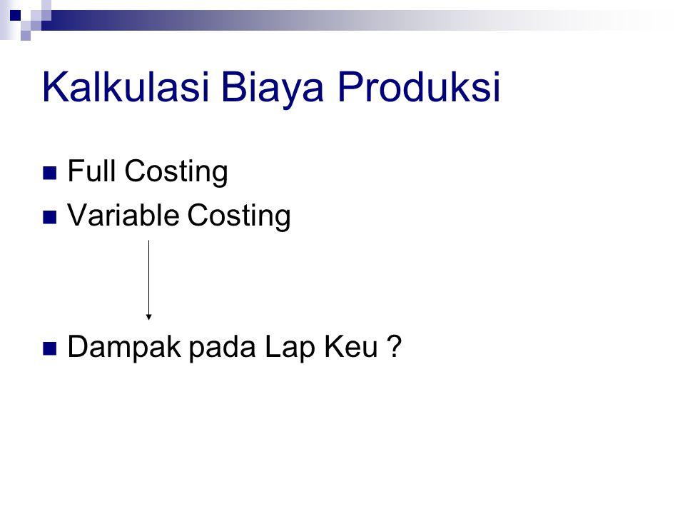 Kalkulasi Biaya Produksi