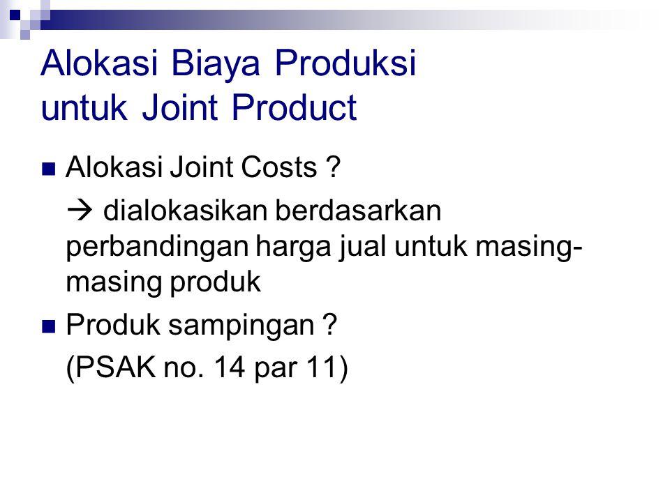 Alokasi Biaya Produksi untuk Joint Product