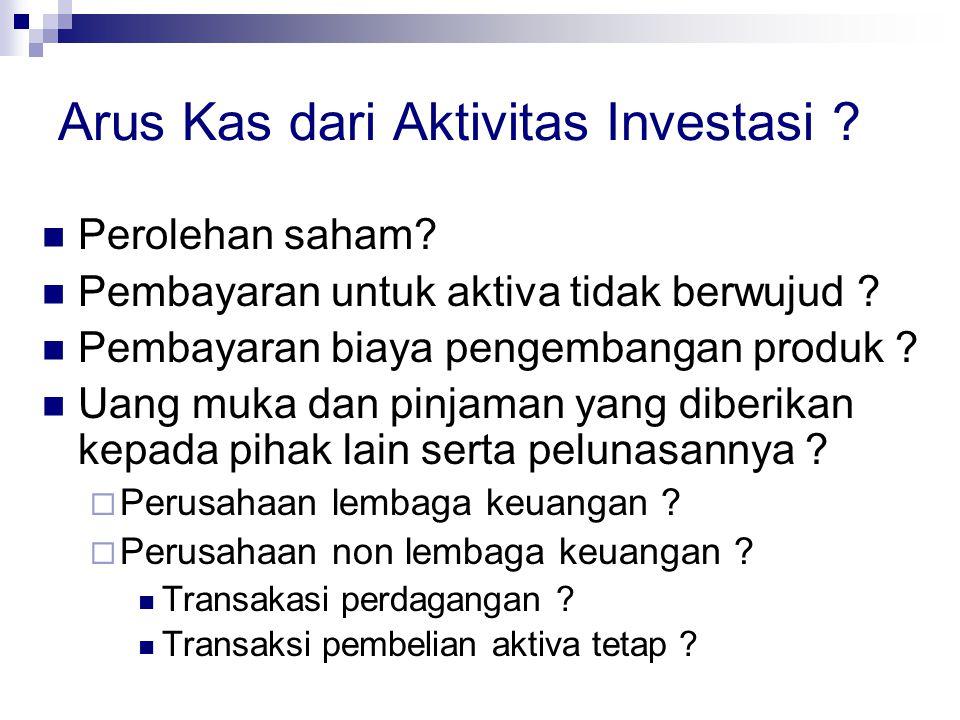 Arus Kas dari Aktivitas Investasi