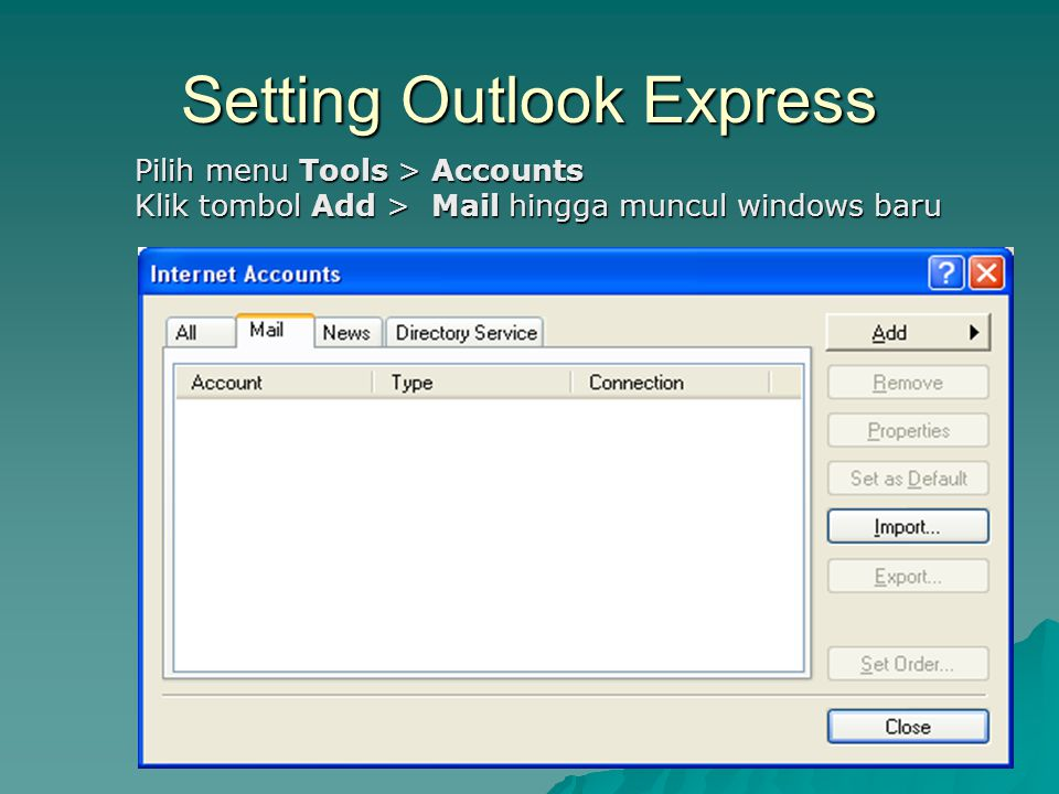 Setting Outlook Express