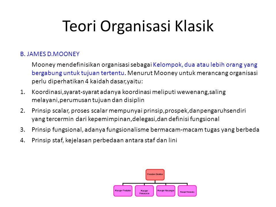 Teori Organisasi Klasik