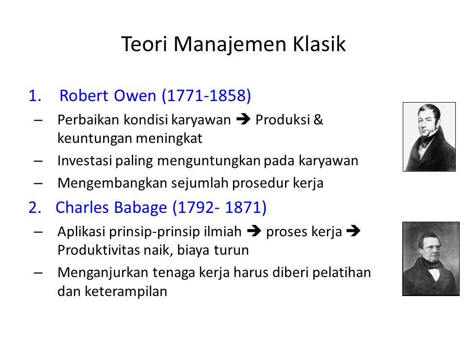 Teori Manajemen Klasik