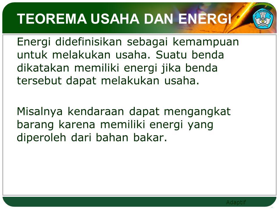 TEOREMA USAHA DAN ENERGI