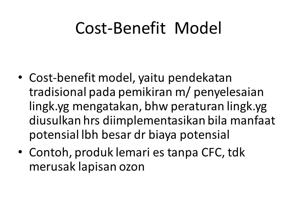 Cost-Benefit Model