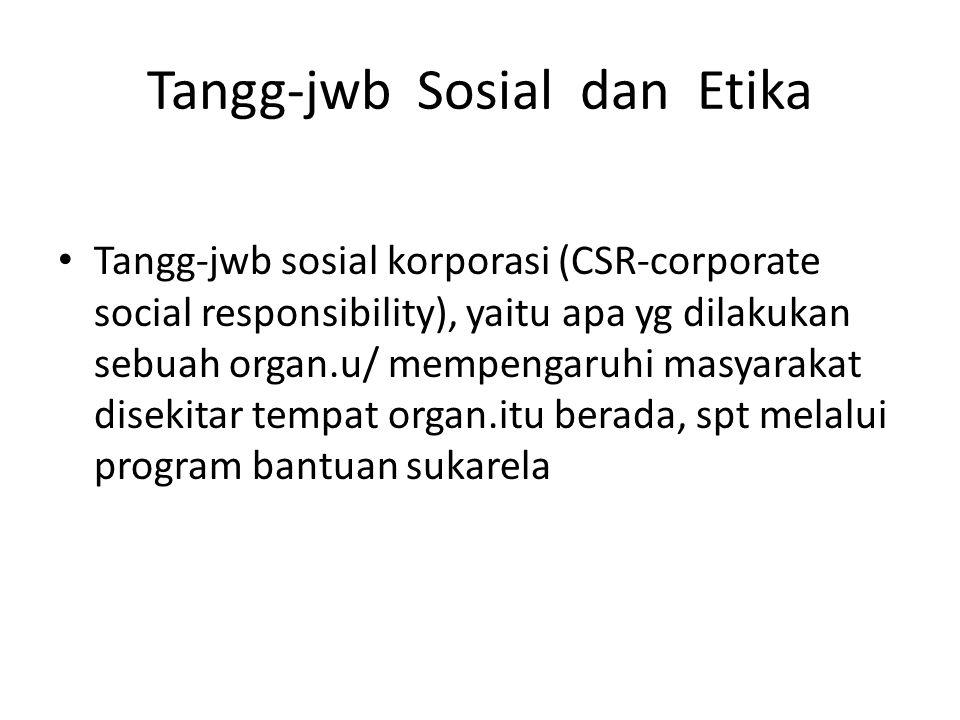Tangg-jwb Sosial dan Etika