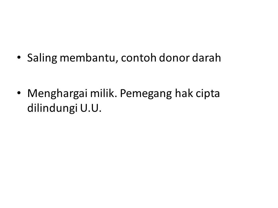 Saling membantu, contoh donor darah