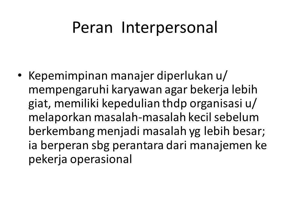 Peran Interpersonal