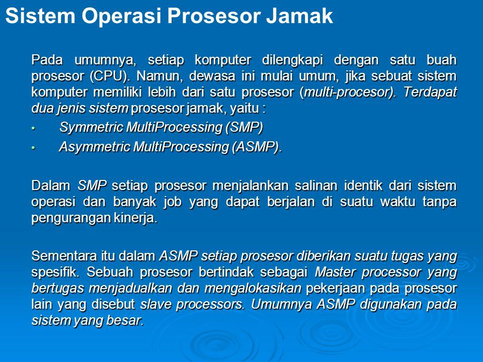 Sistem Operasi Prosesor Jamak