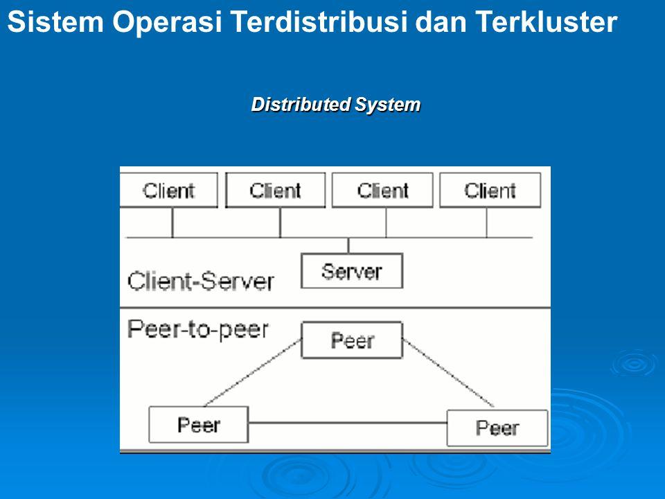 Sistem Operasi Terdistribusi dan Terkluster