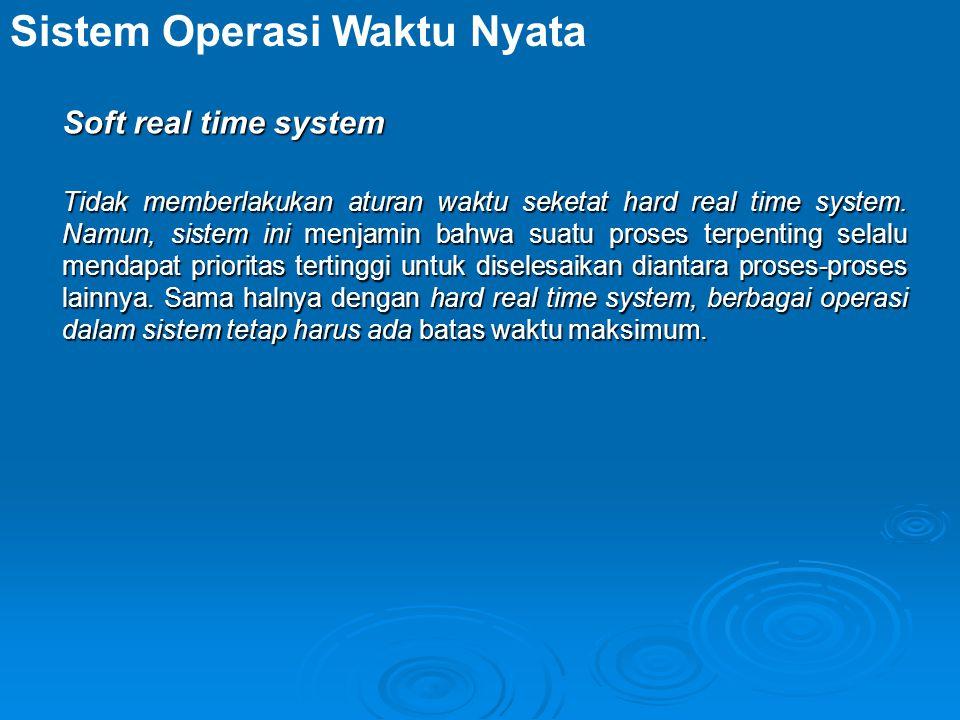 Sistem Operasi Waktu Nyata