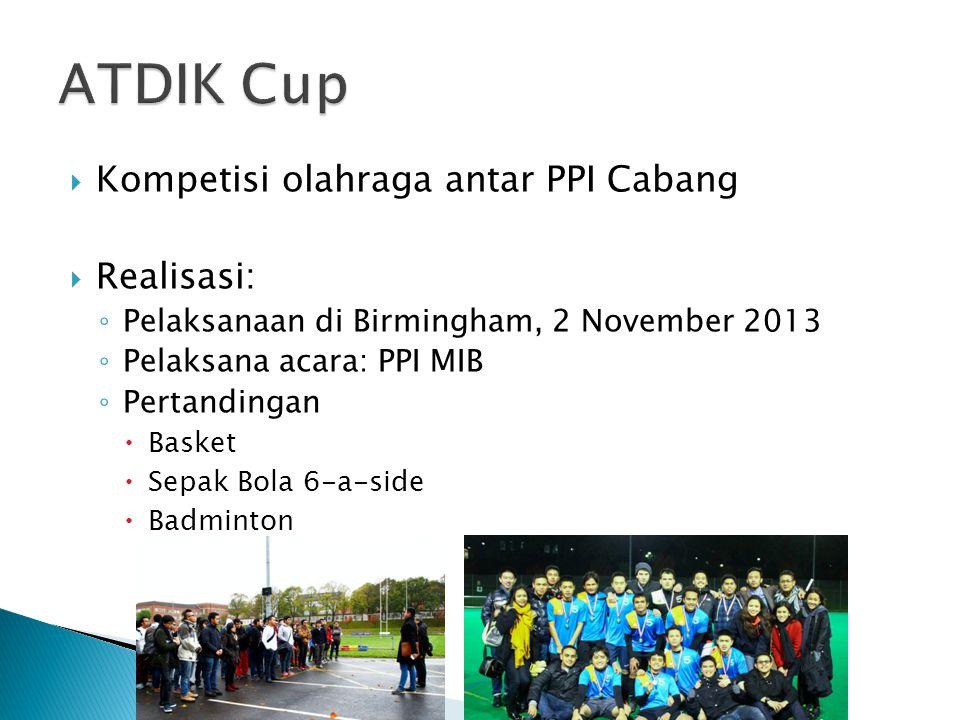 ATDIK Cup Kompetisi olahraga antar PPI Cabang Realisasi: