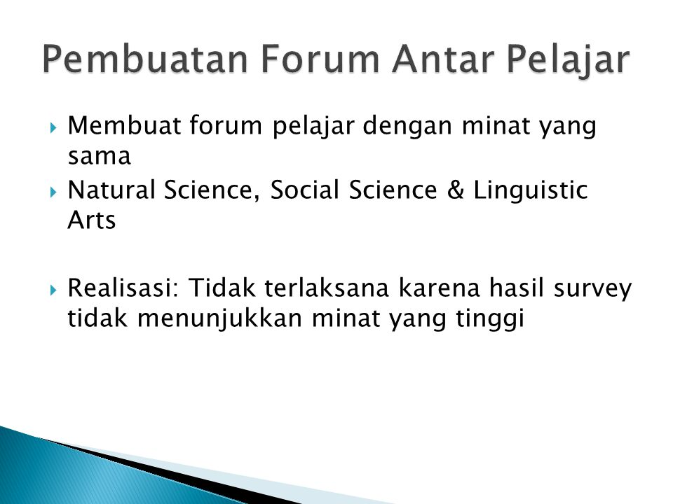 Pembuatan Forum Antar Pelajar