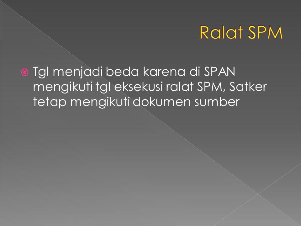 Ralat SPM Tgl menjadi beda karena di SPAN mengikuti tgl eksekusi ralat SPM, Satker tetap mengikuti dokumen sumber.