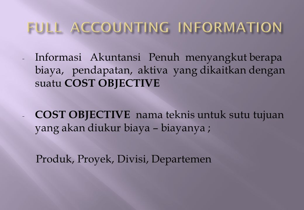 FULL ACCOUNTING INFORMATION