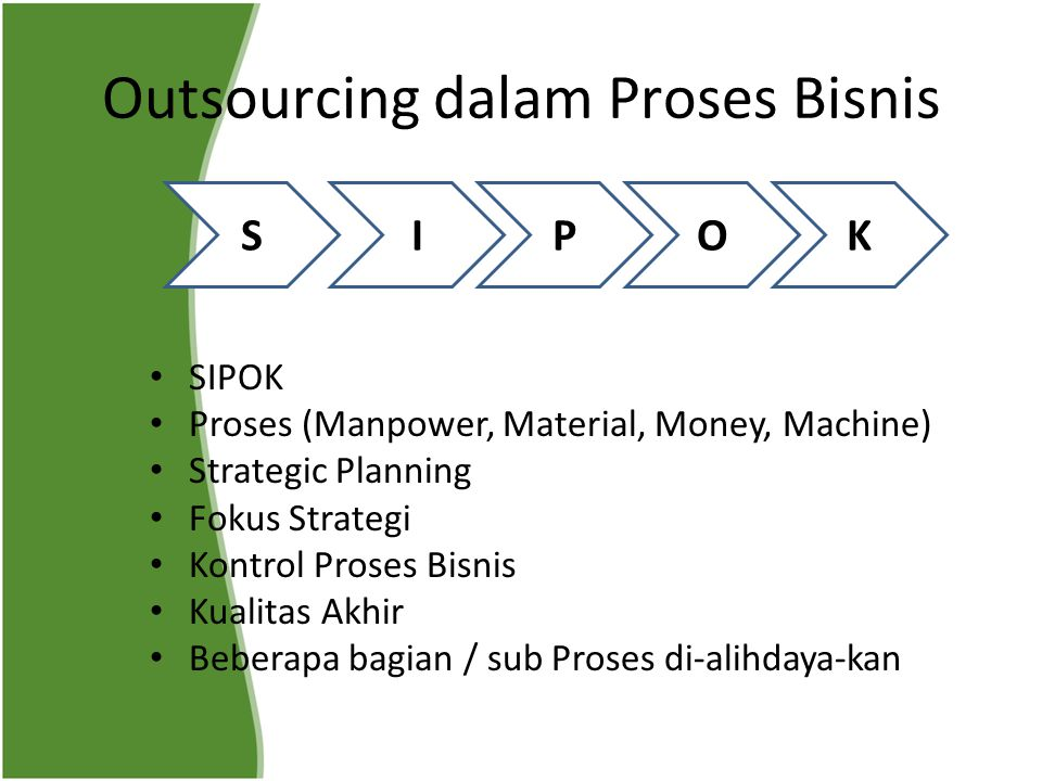 Outsourcing dalam Proses Bisnis