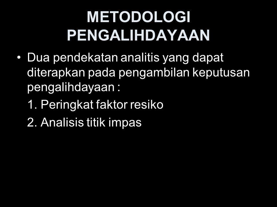 METODOLOGI PENGALIHDAYAAN