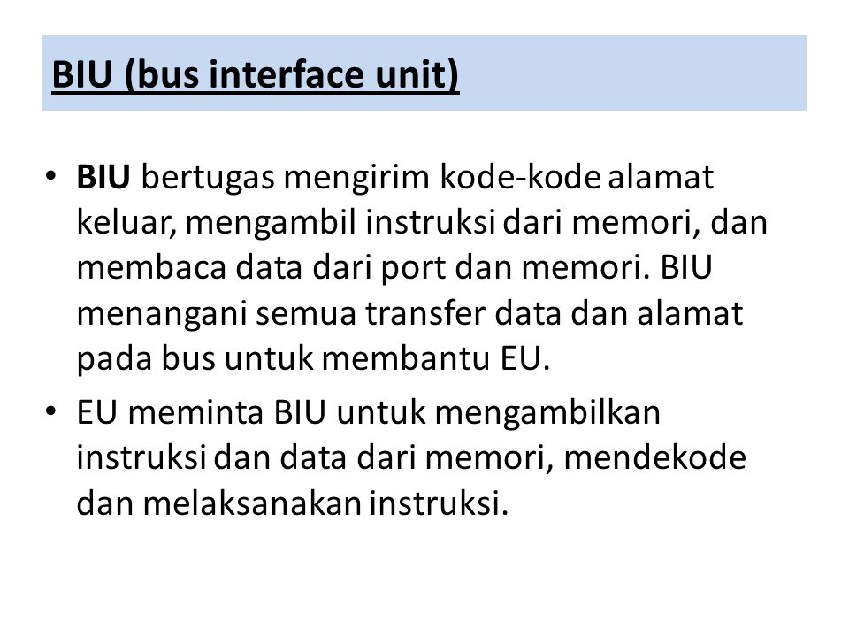 BIU (bus interface unit)