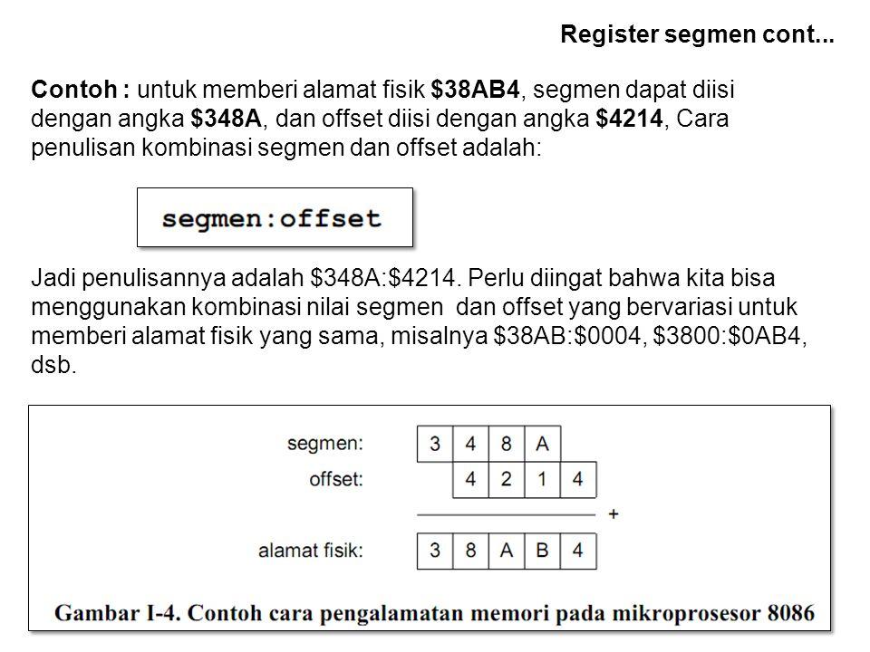 Register segmen cont...