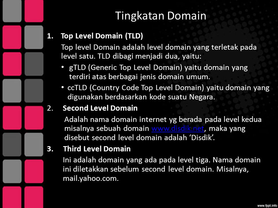 Tingkatan Domain Top Level Domain (TLD)
