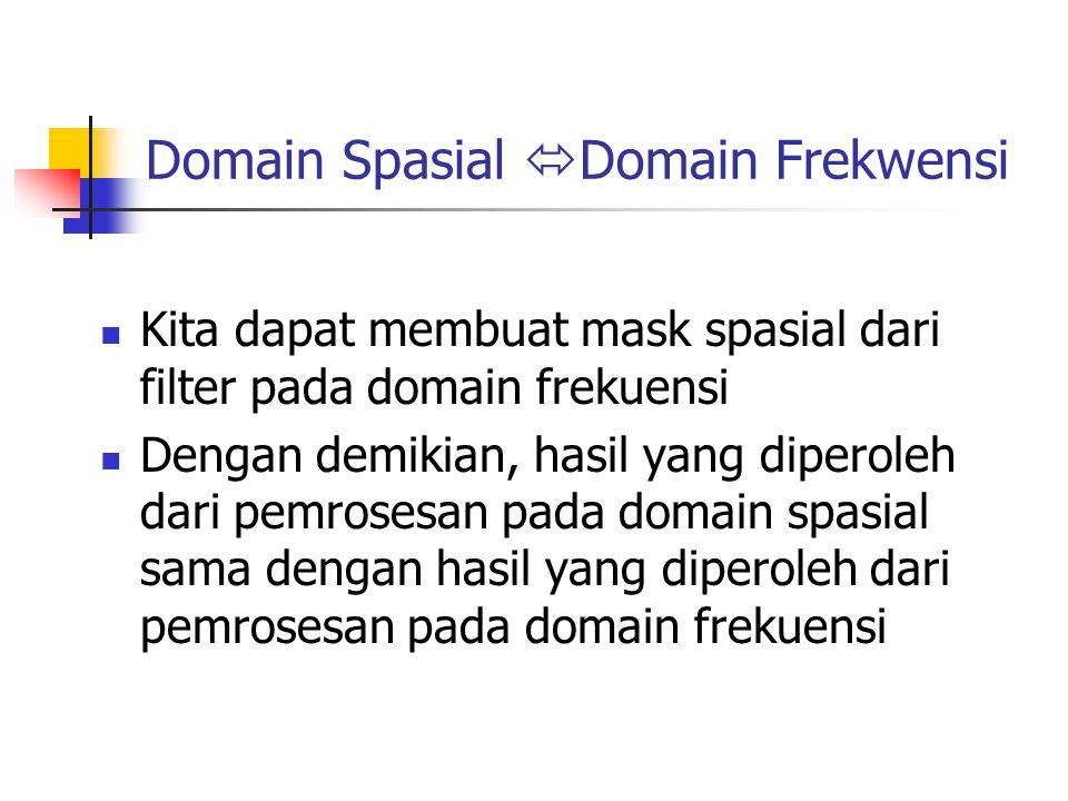 Domain Spasial Domain Frekwensi