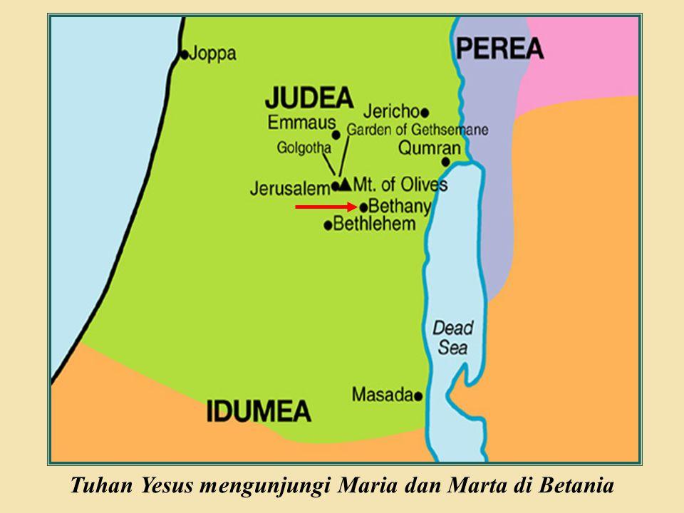 Tuhan Yesus mengunjungi Maria dan Marta di Betania
