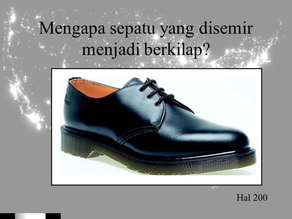 Mengapa sepatu yang disemir menjadi berkilap