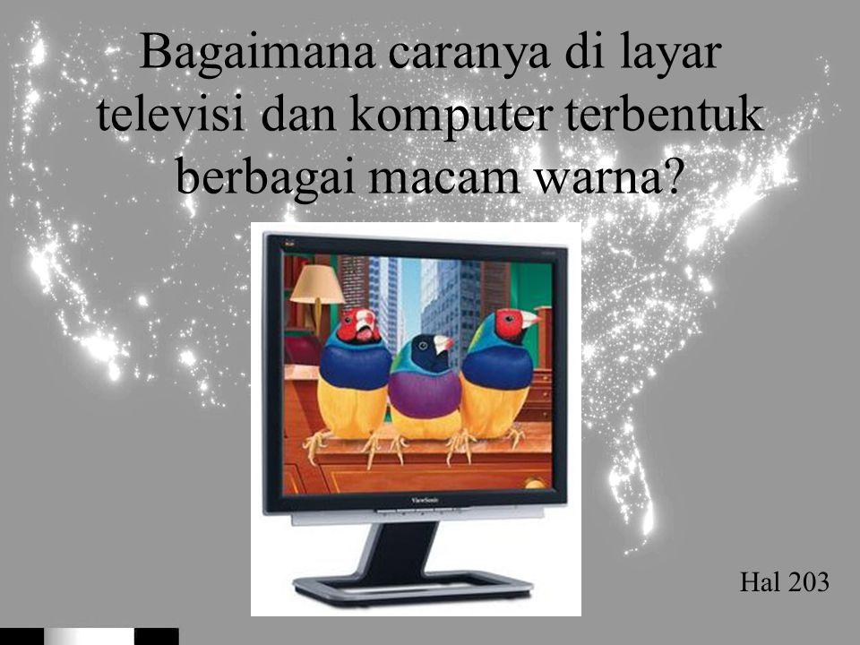 Bagaimana caranya di layar televisi dan komputer terbentuk berbagai macam warna