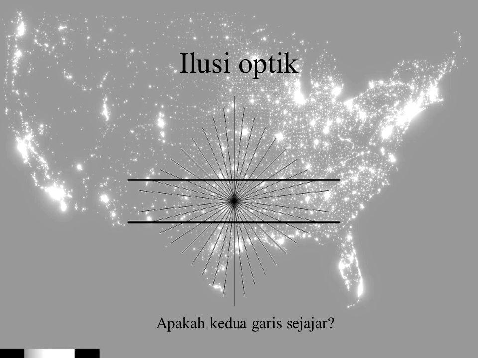 Ilusi optik Apakah kedua garis sejajar